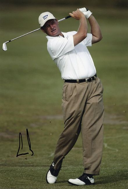 Ernie Els, South African golfer, signed 12x8 inch photo.